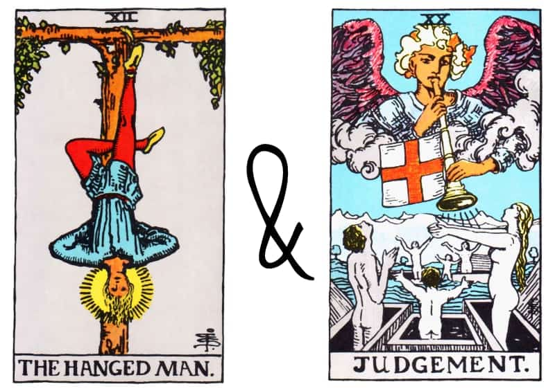 hanged man and judgement tarot