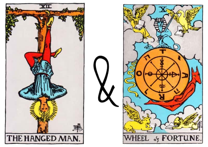 hanged man and wheel of fortune combination