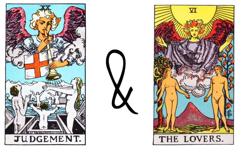 judgement and the lovers card combination