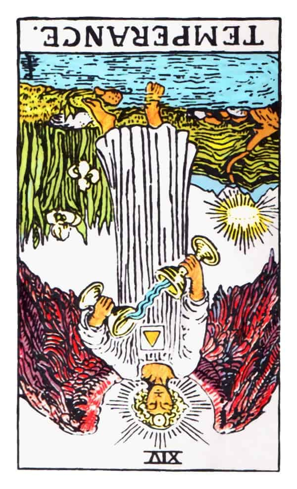 temperance card reversed tarot
