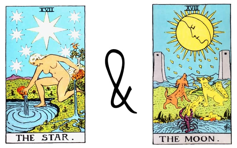 the star and the moon combination in tarot