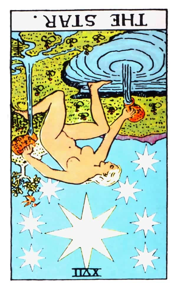 the star card in reversed position