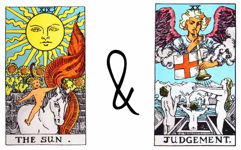 the sun and judgement tarot combination of cards