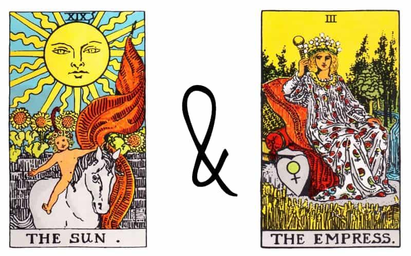 the sun and the empress tarot card combination