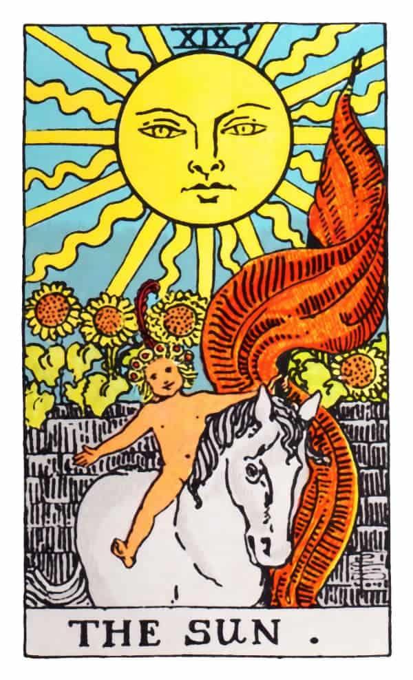 the sun card tarot reading