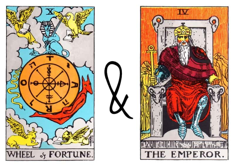 the wheel of fortune emperor card