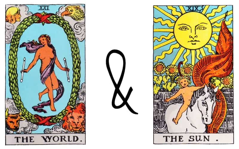 the world and the sun tarot combination
