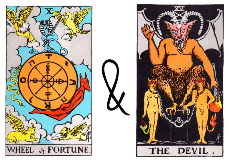 wheel of fortune and devil combination