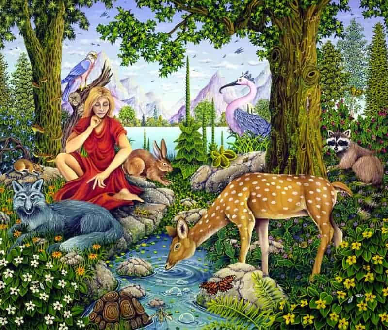 animisms spirit animals history painting