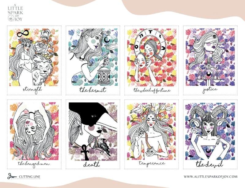 printable tarot deck examples