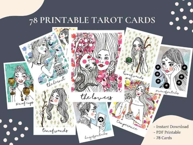 spark of joy printable tarot deck