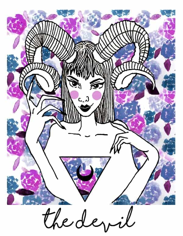 the devil tarot card spark joy deck