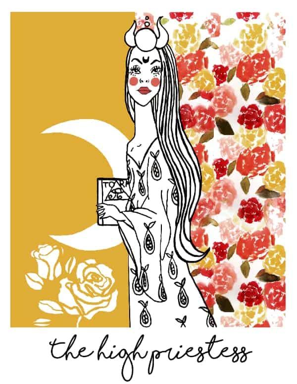 the high priestess tarot card spark joy deck