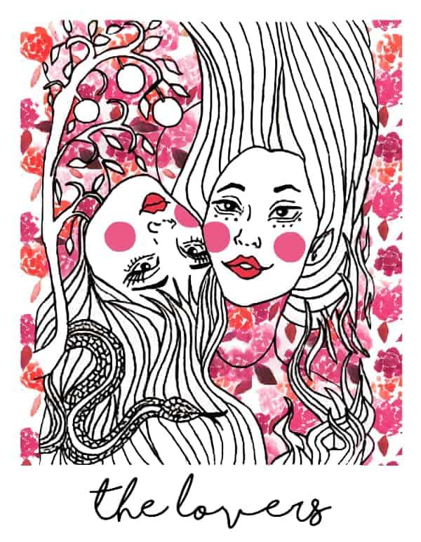 the lovers tarot card spark joy deck