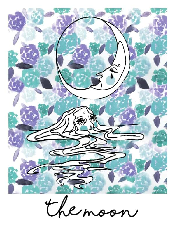 the moon tarot card spark joy deck
