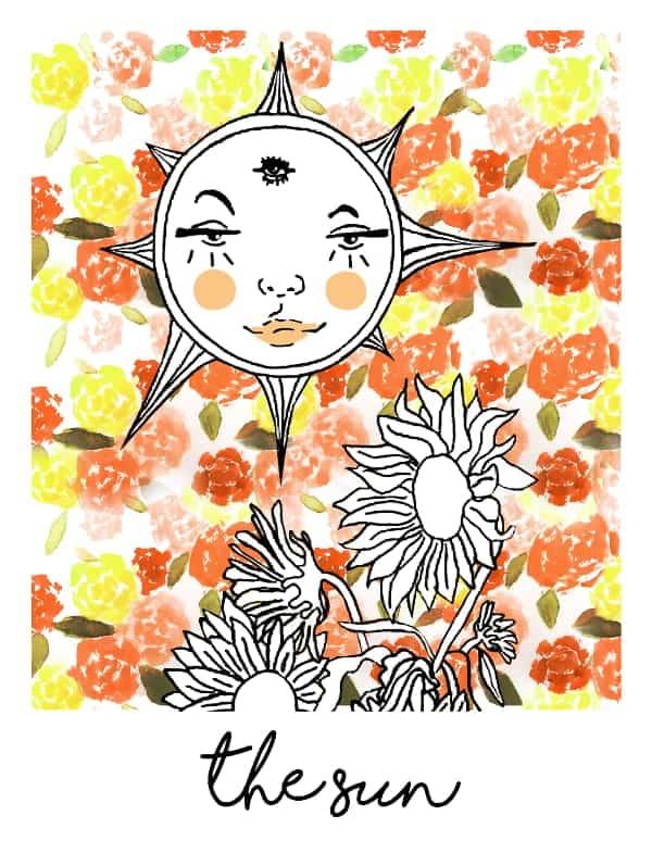 the sun tarot card spark joy deck
