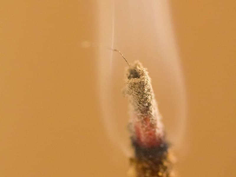 using incense smoke to cleanse pendulum