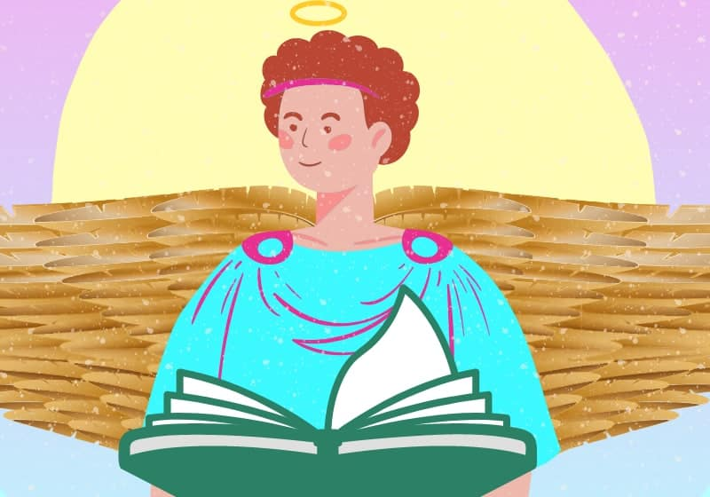 archangel metatron holding book of wisdom