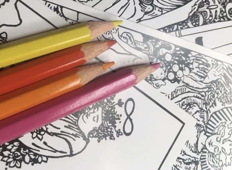 tarot coloring cards 1