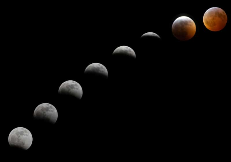 moon reading different phases