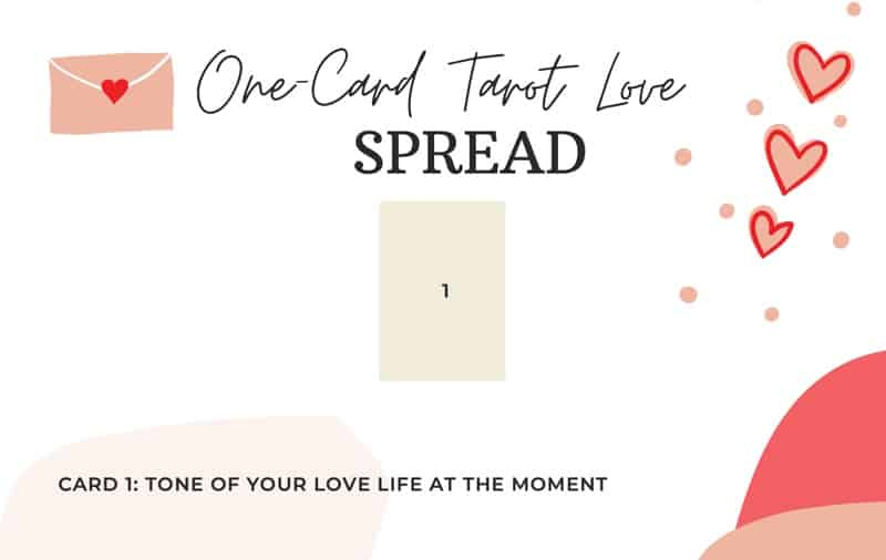 one card tarot love spread