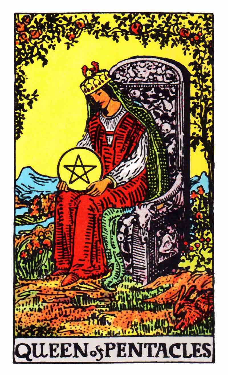 queen of pentacles tarot card 1