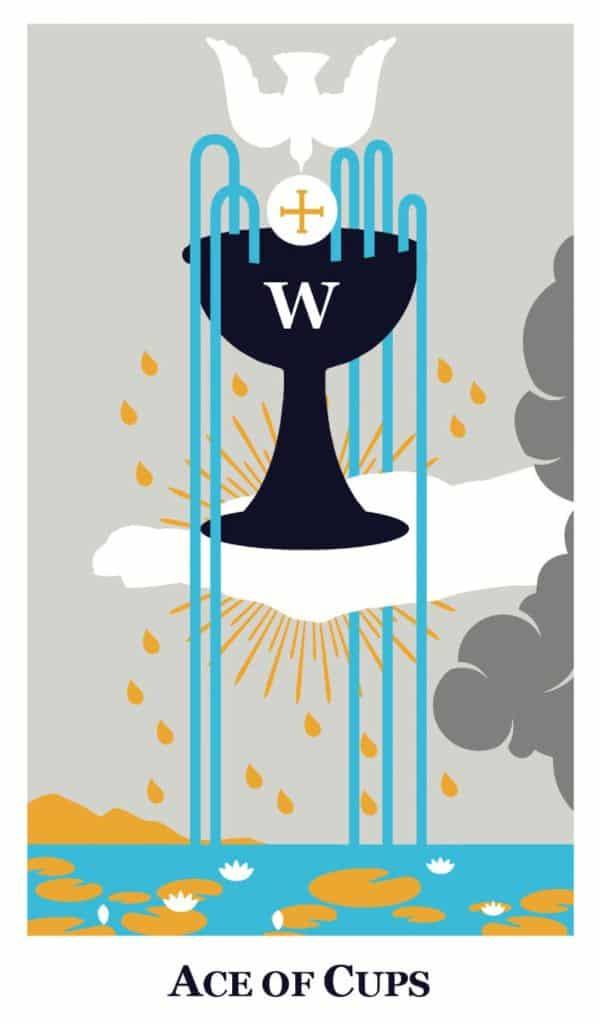 ace of cups modern way tarot deck