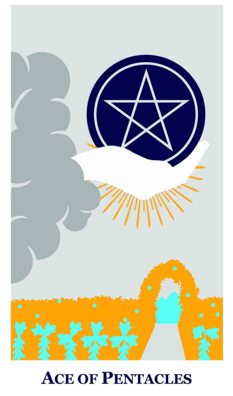 ace of pentacles modern way tarot deck