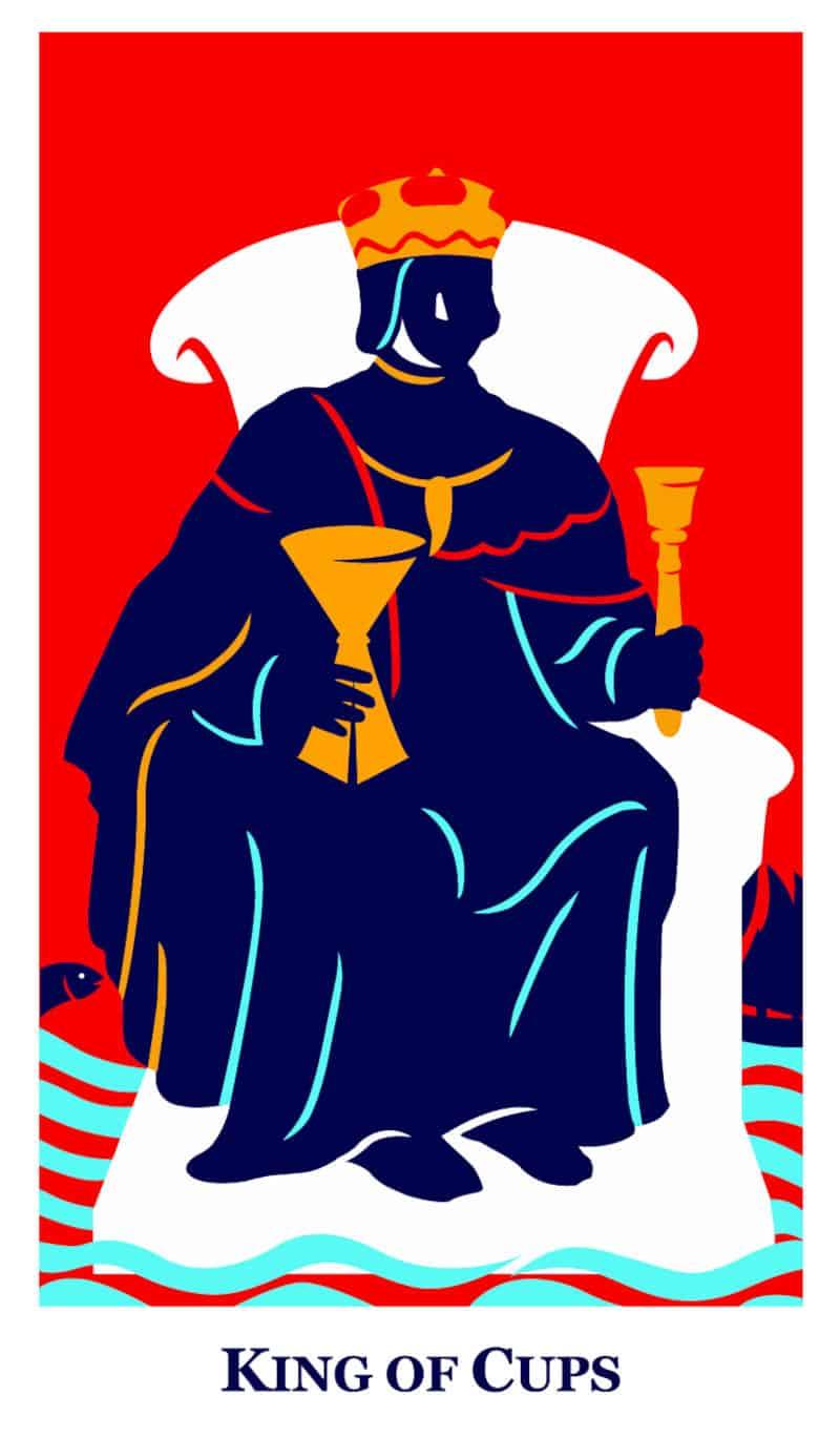 king of cups modern way tarot deck