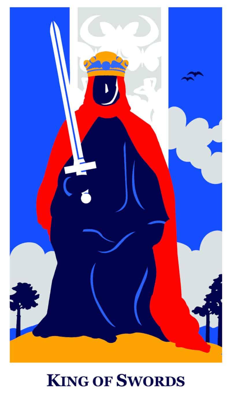king of swords modern way tarot deck