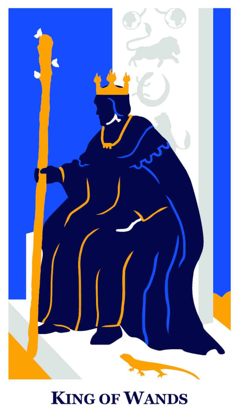 king of wands modern way tarot deck