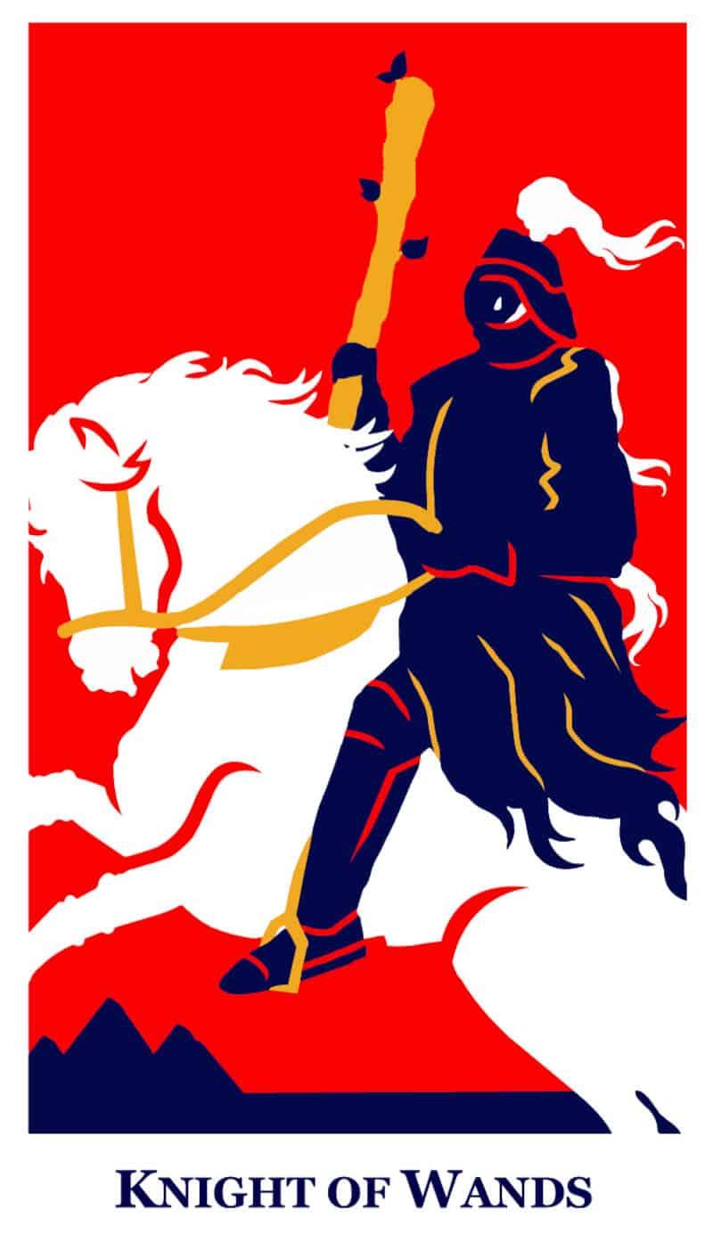 knight of wands modern way tarot deck