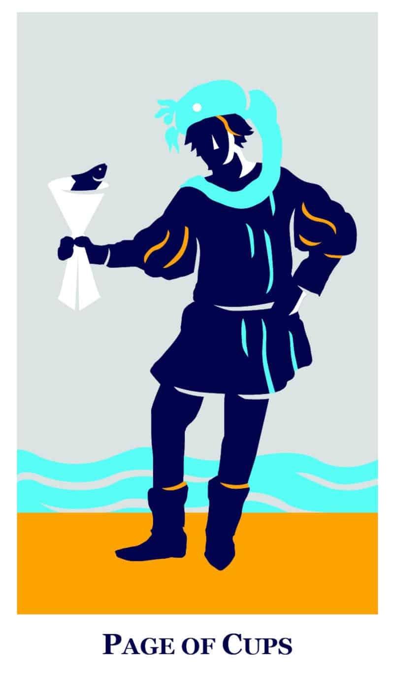 page of cups modern way tarot deck