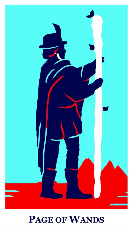 page of wands modern way tarot deck