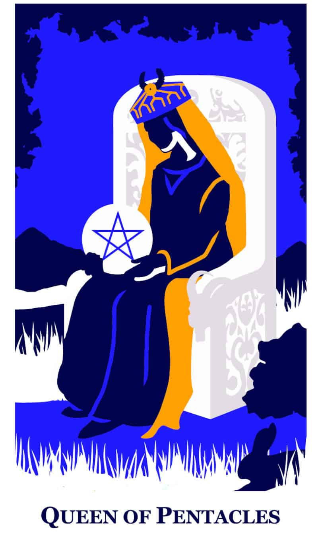 queen of pentacles modern way tarot deck