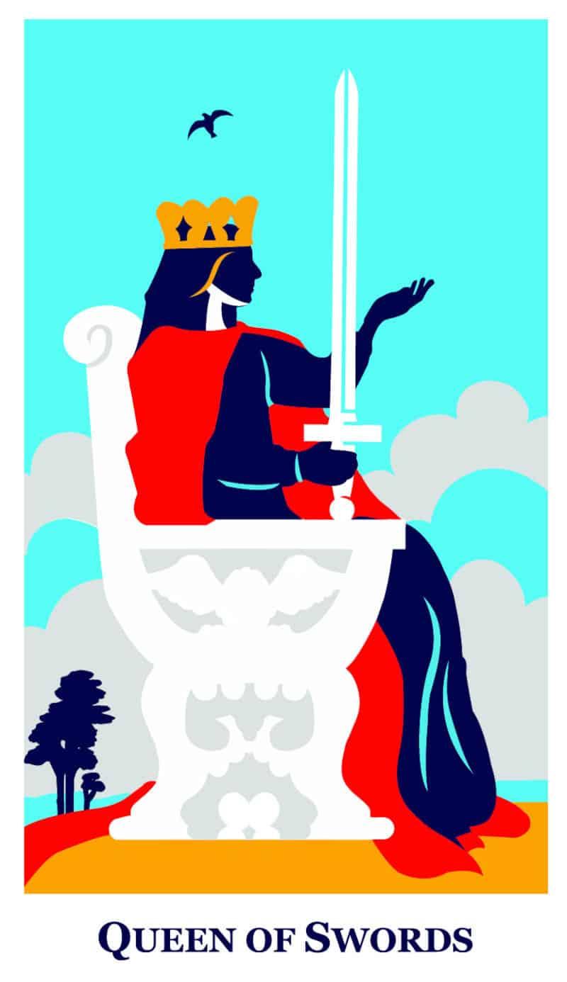 queen of swords modern way tarot deck