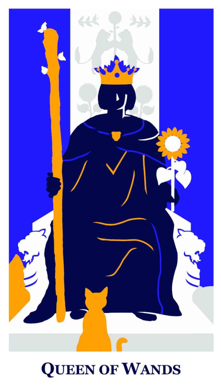 queen of wands modern way tarot deck