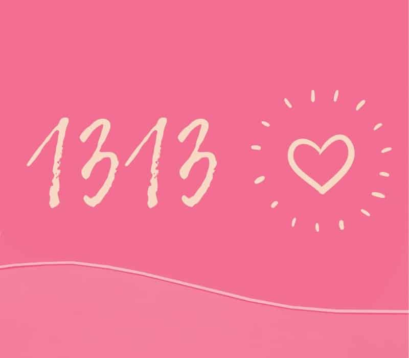 angel number 1313 love